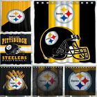 "Pittsburgh Steelers 72"" x72"" Waterproof Fabric Shower Curtain Bathroom Decor"