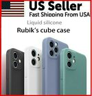 For Iphone 11 Pro Max Se X Xr Xs Shockproof Case Liquid Silicone Soft Lens Cover