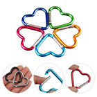 2  Heart Shape Metal Carabiner Keychain Clip Buckle Outdoor Camping Keyring Hook