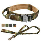 Dog Tactical Collar and Leash set Strong Military Cobra Buckle Training Collar