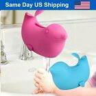 Sea Lion Baby Bath Spout Cover Bathroom Toy Faucet Extender Kids Soft Silicone