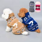 Puppy Pet Dog Winter Warm Jumper Jacket Coat Clothes Knit Sweater Christmas