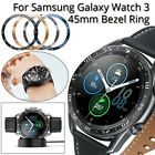 For Samsung Galaxy Watch 3 45mm Watch Bezel Ring Adhesive Cover Scratch Metal