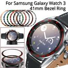For Samsung Galaxy Watch 3 41mm Watch Bezel Ring Adhesive Cover Scratch Metal