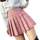 Women Sexy Skirt High Waist Pleated Plaid Skirt Female Anime Short Skirts