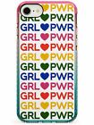 GRL PWR - Mixed Colours (Large) Pink Impact Case for iPhone Girl Women Power