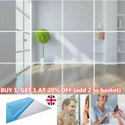 10pcs Art Mirror Tile Wall Sticker Square Self Adhesive Room Decor Stick On Home
