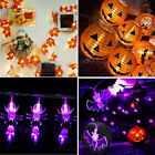 10/20/40 LED Maple Leaves Fall Garland Pumkin String Light Decor Halloween Party