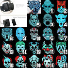 Sound Reactive LED Halloween Mask Music Voice Control Full Face Adjustable