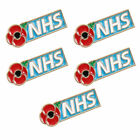 5x Nhs Enamel Poppy Badges Brooch Fashion 2020 Banquet Red Pin Jewellery⭐