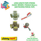 PARCEL PACKING TAPE BROWN / CLEAR / FRAGILE 48MM X 66M 2 INCH + GUN OPTION