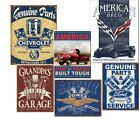 Automotive Tin Metal Sign Garage Cabin Lodge Wall Decor 13 x 16in NEW