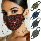 Breathable face mask Crystal Rhinestone/Glitter Diamante Sparkle Reusable Bling