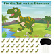 FEPITO Pin the Tail on the Dinosaur Game with 24 Pcs Tails for Dinosaur Birthday