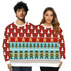 Christmas Couples Two Person Sweatshirt Xmas Long Sleeve Jumper Pullover Tops