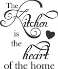 Kitchen Heart Of The Home Wall Art Sticker, Home Decor, Quality Diy Decal Quotes