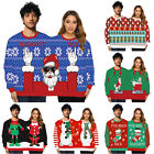 Couples Christmas Sweater Two Person Ugly Jumper Sweatshirt Top Xmas Gift Unisex