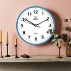 9 Inch Small Wall Clock Silent Non Ticking Quartz Battery Operated Round Office