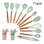 11Pcs Kitchen Silicone Cooking Utensils Set Nonstick Spatula Gadget Spoon