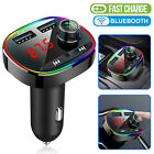 Wireless Bluetooth Car FM Transmitter MP3 Hands free Radio Adapter USB Charger