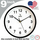 CAMY 9 Wall Clock Silent Non Ticking Quartz Round Battery Operated Easy Read