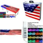 8-Foot Professional Beer Pong Table w/ LED Glow Lights - America Edition