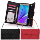 Quilting Hand Bag Wallet Case for Samsung Galaxy A8 A7 A5 2018 2017 2016