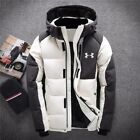 Under Armour Men's Winter Warm Thick Duck Down Jacket Snow Hooded Coat Parka New