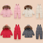 Toddler Baby Winter Warm Girls Boys Hooded Down Jackets Outerwear Coats Jumpsuit