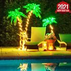 Curved LED Lighted Palm Tree Home Patio Decor 10 Function Deluxe Tropical palm