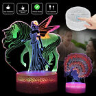 3D Night Light Funny Mermaid 3 Gradient Color Desk Table Lamp Creative Xmas Gift