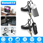 Wireless 3.5mm Aux Bluetooth 5.0 Receiver Car Audio USB Cable Adapter Hands-free