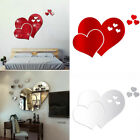 Mirror Wall Sticker Love Hearts Diy Home Decoration Removable Brand New
