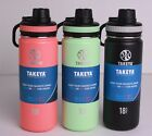 Takeya Originals 18 Oz. Insulated Stainless Steel Water Bottle 3 Colors Avail.