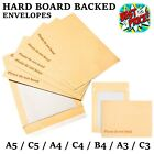 PLEASE DO NOT BEND HARD CARD BOARD BACKED ENVELOPES MANILLA BROWN C5 A5 A4 A3 C3