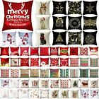 "18x18"" Christmas Xmas Cushion Cover Pillow Case Waist Throw Sofa Bed Home Decor"