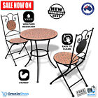 3pc Outdoor Mosaic Bistro Set Waterproof Table And Chairs Garden Patio Furniture
