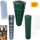 PVC Coated Wire Mesh Fencing 10m-50m Height Green Galvanised Garden Fence A++⭐⭐⭐
