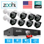 Home CCTV Security Camera System Outdoor 4/8CH 1/2TB Hard Drive Wired IR HD Kit
