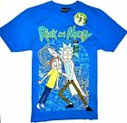 Rick And Morty T Shirt Mens PRIMARK 100% Cotton Blue TV Tee...