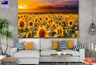 Sunflower Field In Sunset Painting Canvas Collection Home Decor Wall Print Art