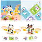 Cartoon Cattle Balance Scale including weights Math Learning Educational Toy Set