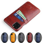 For Iphone 12 11 Pro Xs Max Xr X 7 8 Se Leather Case Credit Card Slot Back Cover