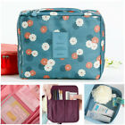 Multifunction Travel Makeup Case Floral Printed Cosmetic Bag Storage Organizer