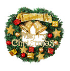 30cm Halloween Christmas Outdoor Lighted Wreath With Pendant Window Decorations