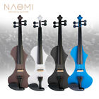 NAOMI 4/4 Electric Violin Solid wood Silent Active Pickup 6 Colored Guitar Head