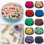 20PCS Round Silicone Loose Beads DIY Teething Baby Sensory Chew Jewelry Making