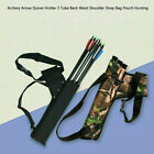 Arrow Shoulder Hunt 3 Strap Waist Bag Archery Quiver Holder Tube K Back Pouch CA