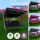Levede Swing Chair Hammock Outdoor Furniture Garden Canopy 3 Seater Cushion Seat