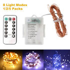 10M Copper Wire 100 LED String Light Strip Waterproof 8 Modes Fairy Light+Remote